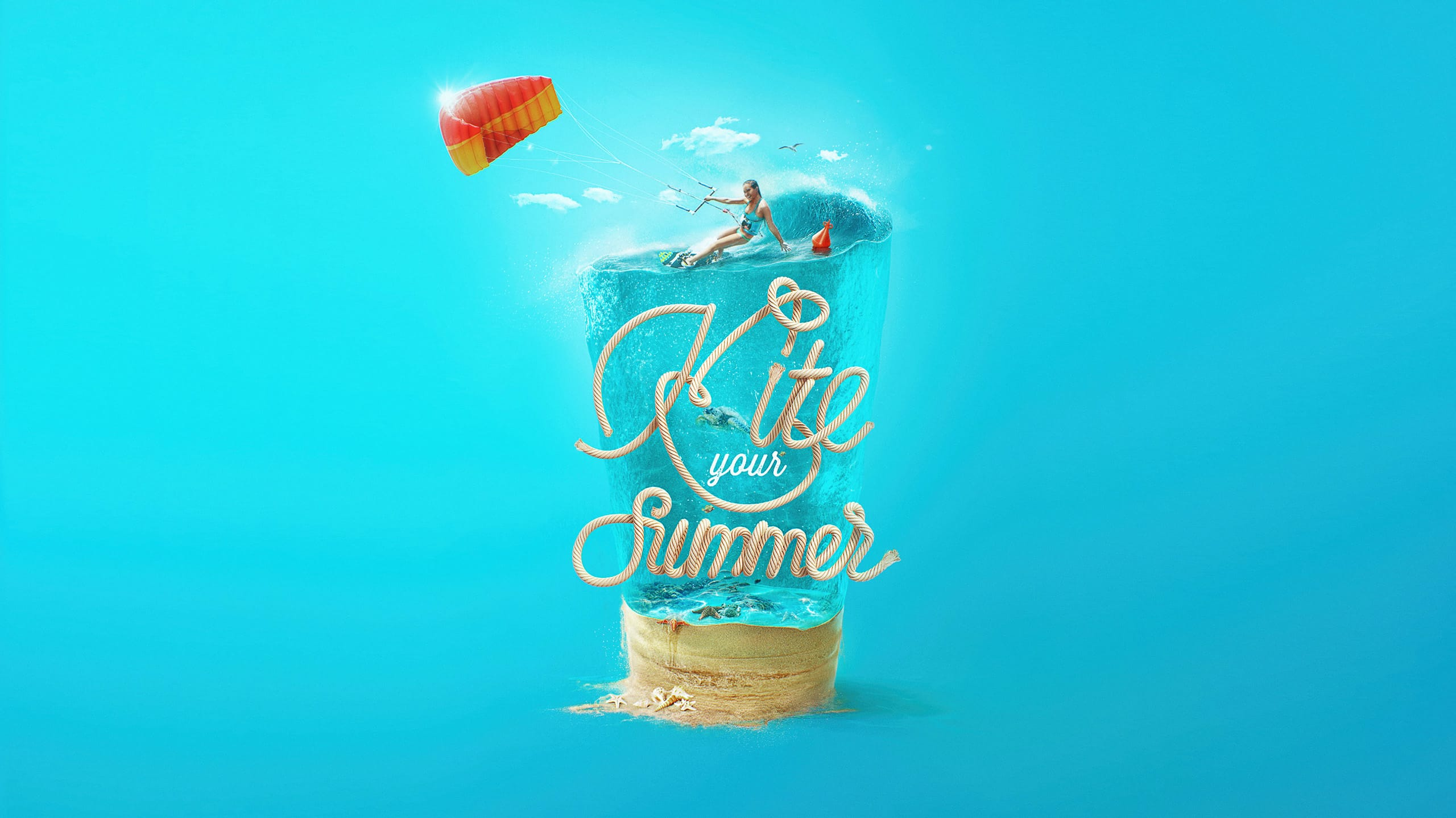 Визуал Kite your summer дизайн Feel Factory